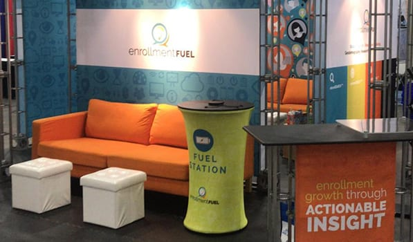 EnrollmentFUEL trade show area
